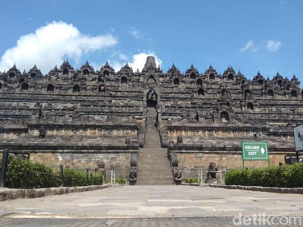 Suasana Borobudur Hari Ini Pasca Pengunjung Candi Dibatasi