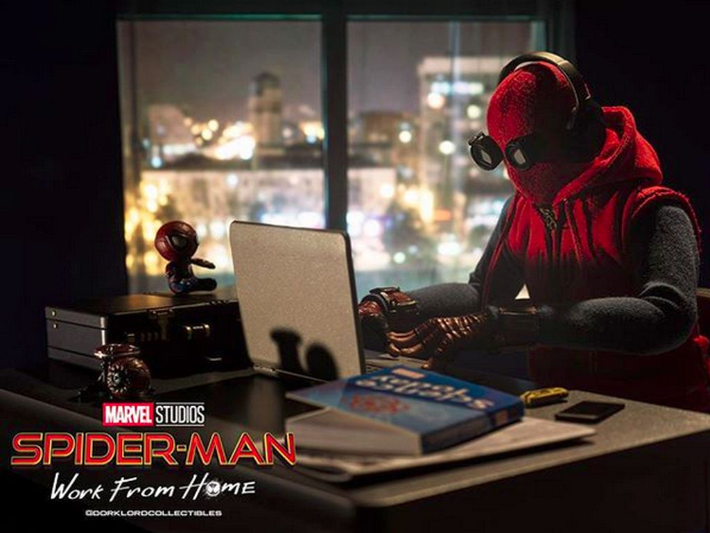 Pandemi Corona, Jon Watts Bikin Meme Spider-Man: Work from Home