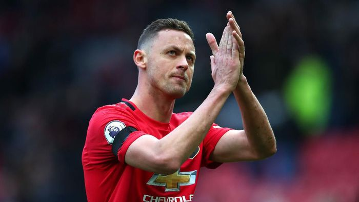 MANCHESTER, ENGLAND - FEBRUARY 23: Nemanja Matic of Manchester United applauds fans after the Premier League match between Manchester United and Watford FC at Old Trafford on February 23, 2020 in Manchester, United Kingdom. (Photo by Clive Brunskill/Getty Images)