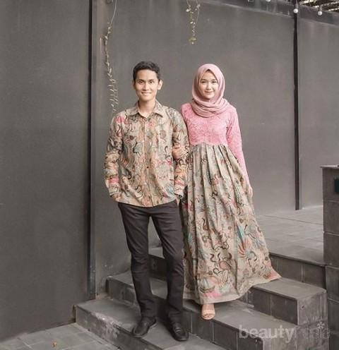 Kombinasi Gamis Batik Dengan Berbagai Model Untuk Hijabers