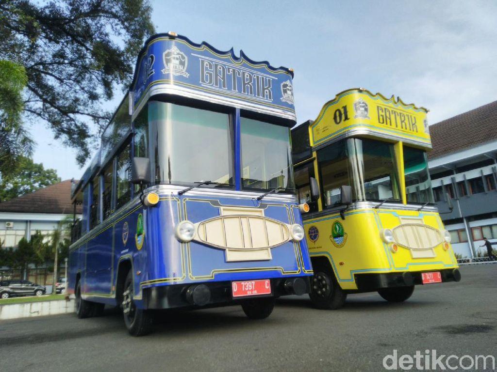 Virus Corona Pandemik, Operasional Bus Wisata Gatrik Ciamis Disetop