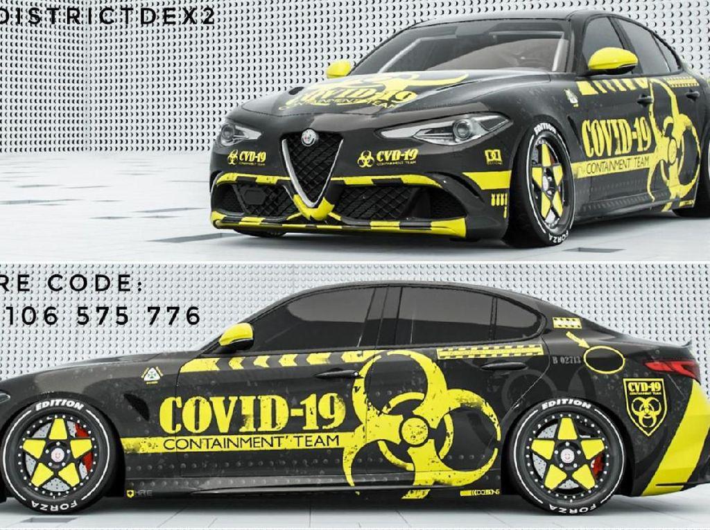 Ada-ada Saja, Covid-19 Jadi Inspirasi Modifikasi Mobil