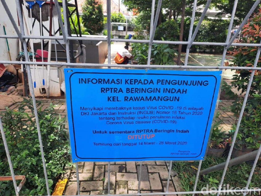 Cegah Penularan Corona, Semua RPTRA di Jakarta Ditutup sampai 28 Maret