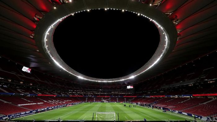 MADRID, SPAIN - FEBRUARY 23: General view inside the stadium prior to the La Liga match between Club Atletico de Madrid and Villarreal CF at Wanda Metropolitano on February 23, 2020 in Madrid, Spain. (Photo by Gonzalo Arroyo Moreno/Getty Images)