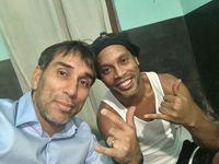Ronaldinho saat di dalam penjara