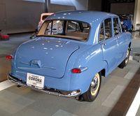 Tampak belakang Toyota Corona tahun 1957