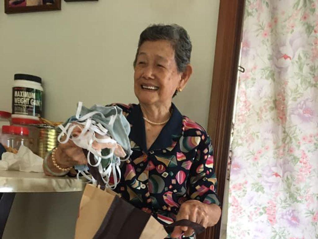 Terenyuh! Kisah Viral Ibu Bikin Masker Cegah Virus Corona untuk Anaknya