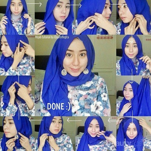 Tutorial Cara Pakai Hijab Terbaru 2019