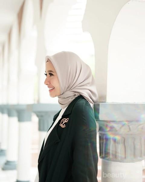 Biar Ketularan Cantik Contek Look Hijab Ala Laudya Cynthia Bella