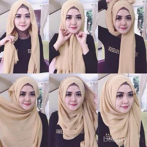 Pengen Tampilan Hijab Segi Empat Modern Begini Cara Pakainya