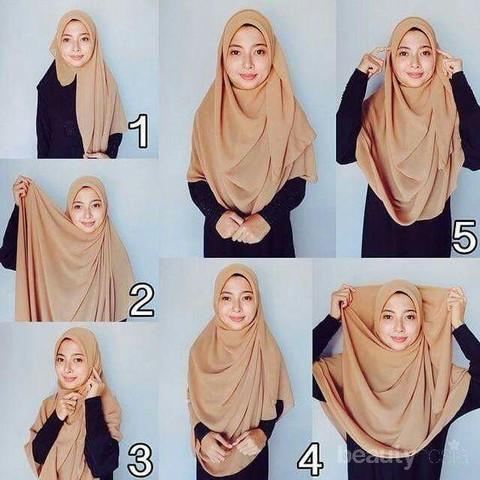 5 Tutorial Hijab Syar I Mudah Dan Cepat Untuk Wajah Bulat