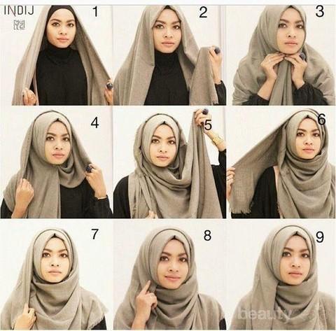 Ikuti Yuk 5 Tutorial Hijab Pashmina Katun Ini Agar Look Kamu Tampak Elegan