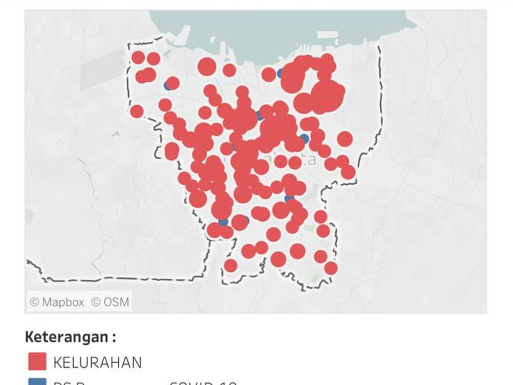 Daftar 82 RW Zona Merah Corona di Jakarta