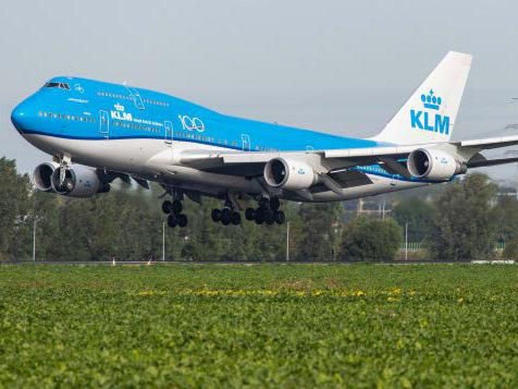 Potret Penerbangan Terakhir B747 yang Kosong Karena Corona