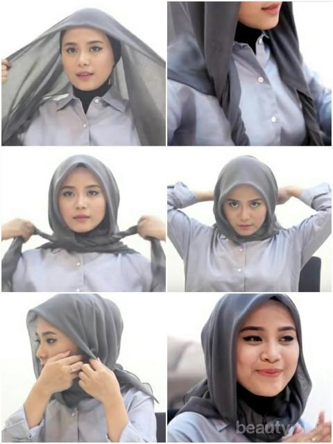 Tutorial Hijab Square Super Mudah Dan Stylish Ala Restu Anggraini
