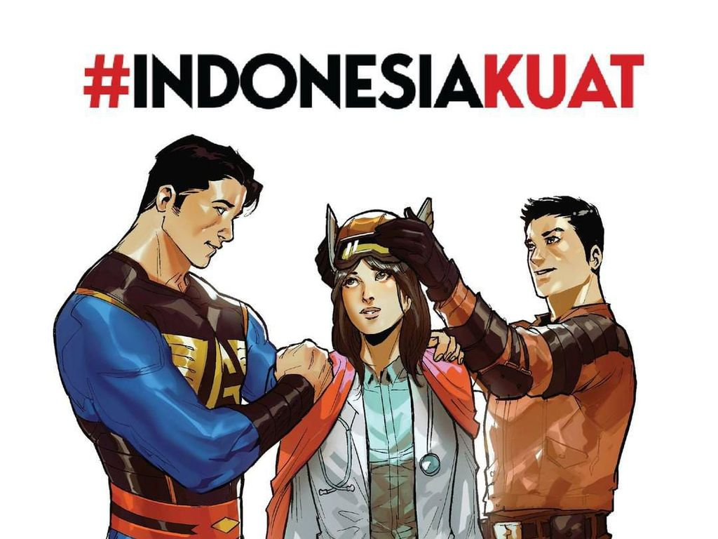 Gundala dan Godam Beri Kekuatan pada Tenaga Medis Indonesia