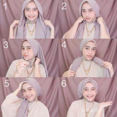 Hijabers Intip 4 Model Hijab Segi Empat Simple Dan Cepat Untuk Tampil Cantik Di Hari Lebaran