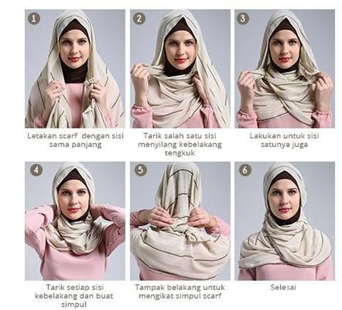 Tampil Modis Tiap Hari Dengan 3 Tips Jilbab Segi Empat Yang Simpel Ini