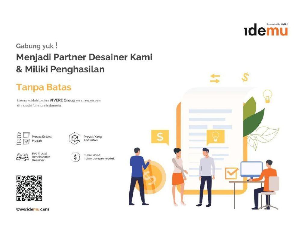 Kerja Jadi Partner Desainer IDEMU, Bebas Atur Waktu dan Penghasilan