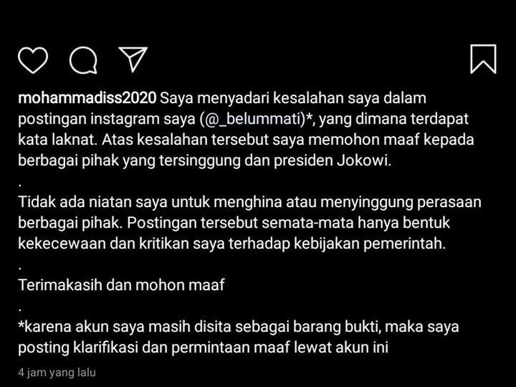 Ini 3 Alasan Penahanan Mahasiswa Solo Penghina Jokowi Ditangguhkan