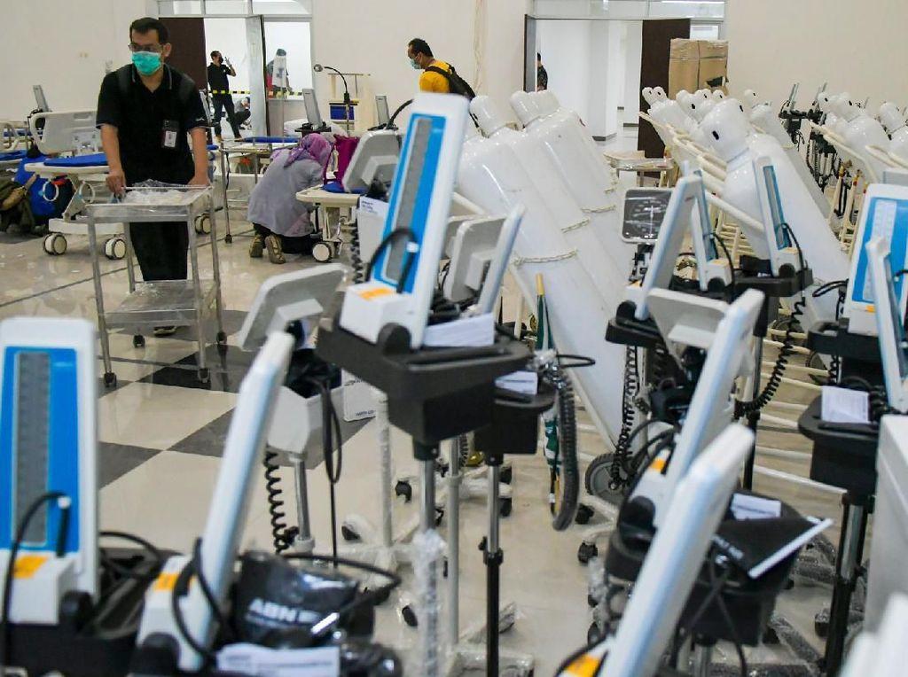 Per 31 Maret RS Corona Wisma Atlet Rawat 413 Pasien, 101 Orang Positif