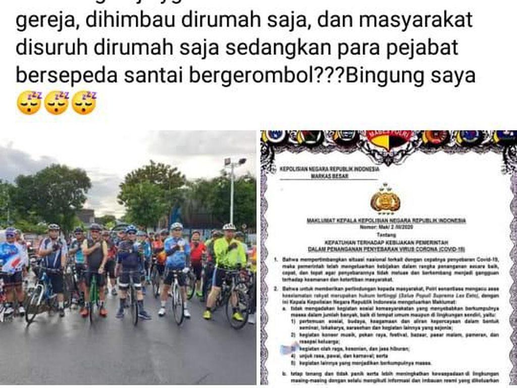 Acara Sepeda Kapolda Dikritik, Ini Penjelasan Polda Sulut