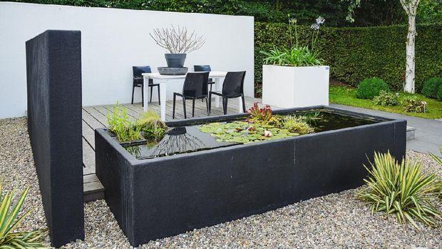 Ilustrasi taman rumah minimalis