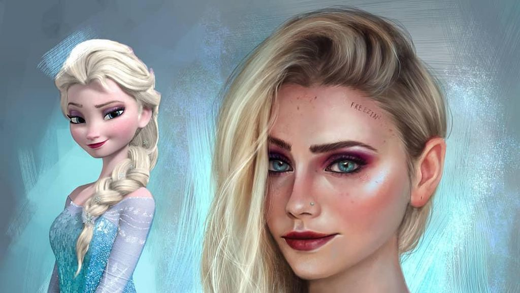 Foto: Cantiknya Para Karakter Kartun Disney Ketika Dewasa