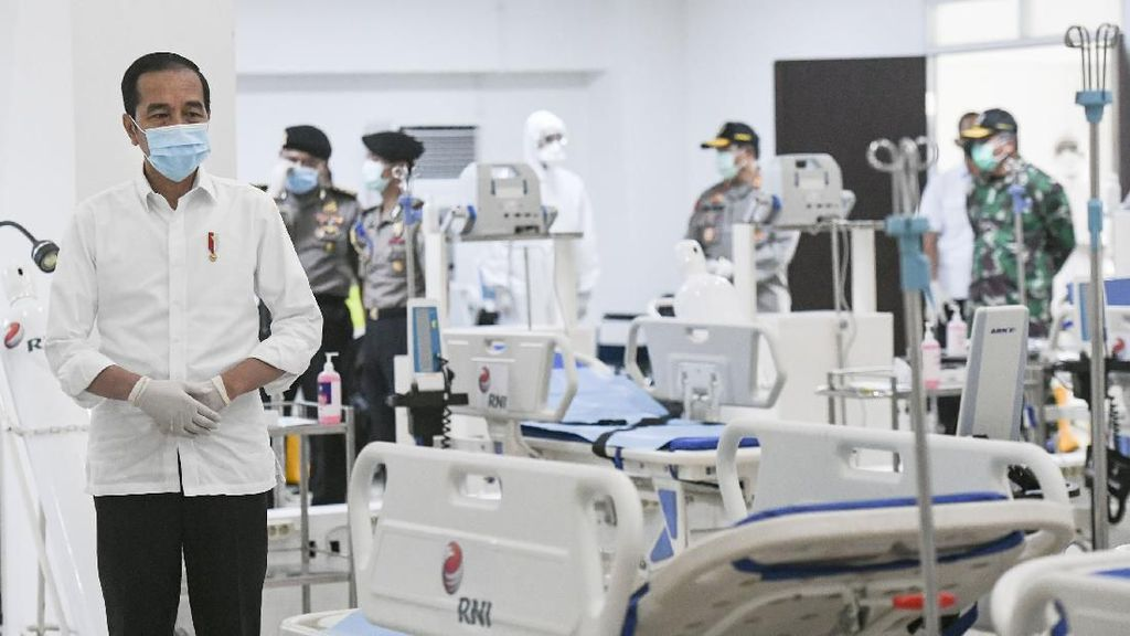 Jokowi Tinjau Kesiapan RS Darurat Corona di Wisma Atlet