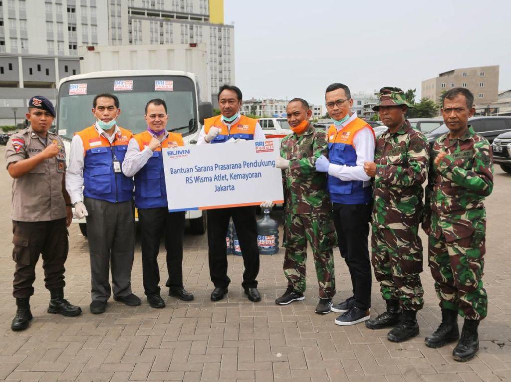 BRI Salurkan Bantuan Sarana Penunjang ke RS Darurat Corona Kemayoran