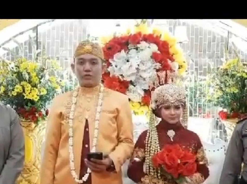 Berbaju Pengantin, Polisi di Aceh Minta Tamu Tak ke Pesta Nikah karena Corona