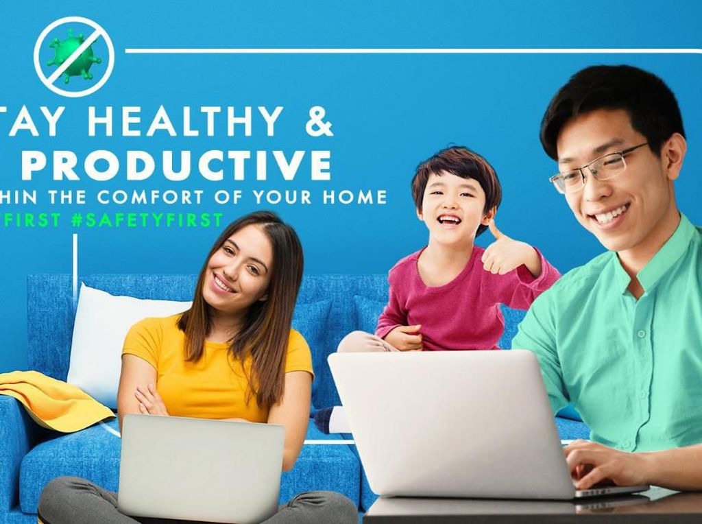 Kampanye #HealthyFirst First Media Dukung Work From Home