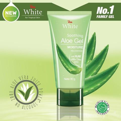 Viva White Soothing Aloe Gel Lidah Buaya Multifungsi Untuk Melembapkan Dan Atasi Jerawat