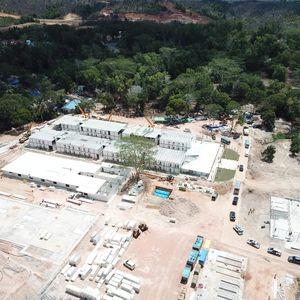 Momen Panglima TNI-Kapolri-Menteri PUPR Tinjau RS Corona di Pulau Galang