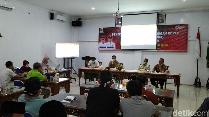 Jumpa pers perkembangan data Corona di Kebumen, Rabu (25/3/2020)