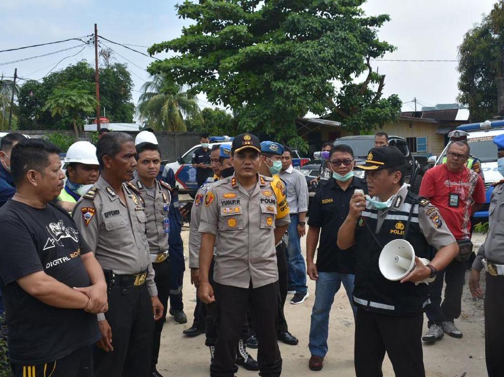 Cegah Corona, 3 Wilayah di Pekanbaru Disemprot Disinfektan Pakai Drone