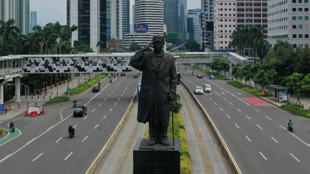 Jakarta Lengang, Udara di Ibu Kota Terpantau Kian Bersih