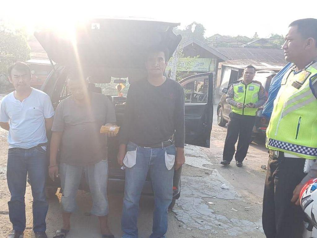 Terjaring Razia Polantas di Aceh Tamiang, 3 Pria Sumut Kepergok Bawa Sabu