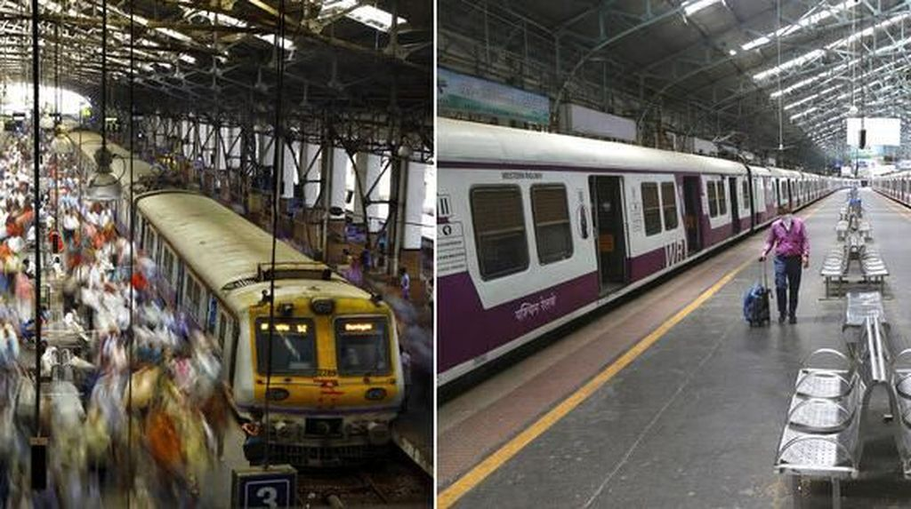 Foto Before-After Stasiun Kereta di India yang Kini Sepi Imbas Corona