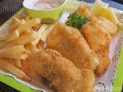 Masak Apa Hari Ini : 'Fish and Chips' dan Sup Krim Jamur ala Restoran