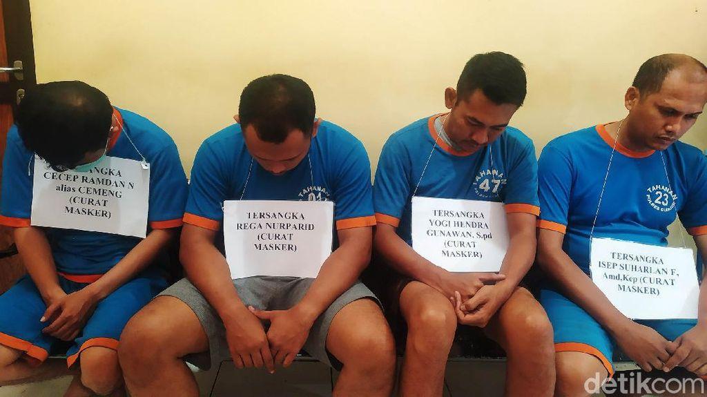 Ini Tampang Pelaku Pencuri Masker di RS Cianjur, Salah Satunya PNS Lho