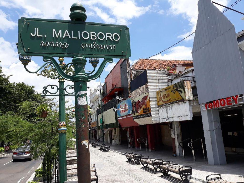 Begini Kondisi Malioboro yang Sepi Pengunjung