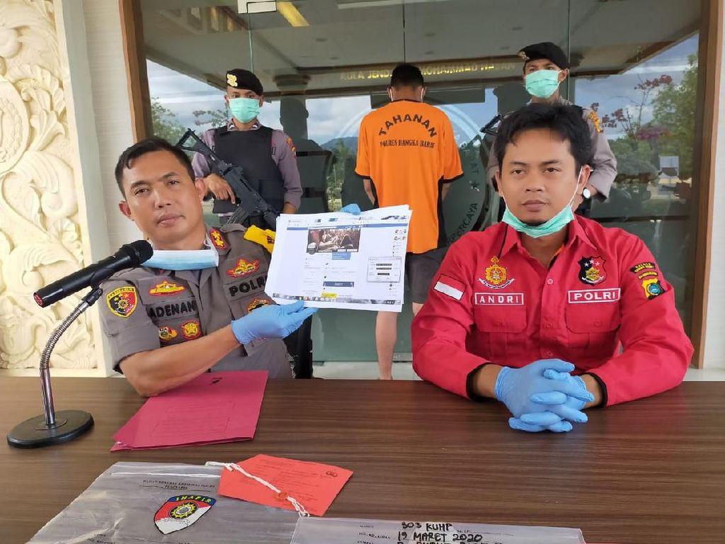 Sebar Hoax Pasar Ditutup Imbas Corona, Pemuda di Bangka Barat Ditangkap