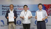 Kementerian BUMN Terima Bantuan Pencegahan Corona dari China Huadian