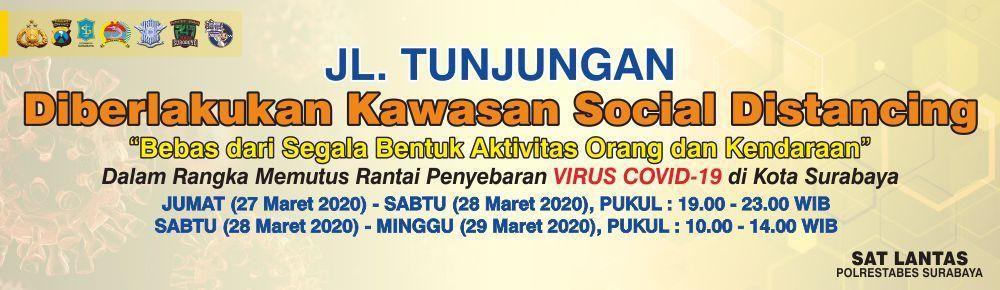 Lockdown di Surabaya/