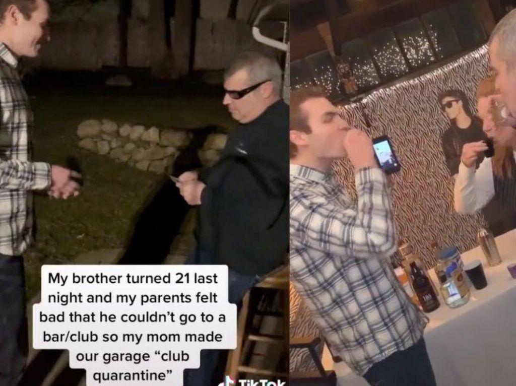 Rayakan Ulang Tahun Saat Karantina, Keluarga Ini Bikin Pesta Unik di Garasi
