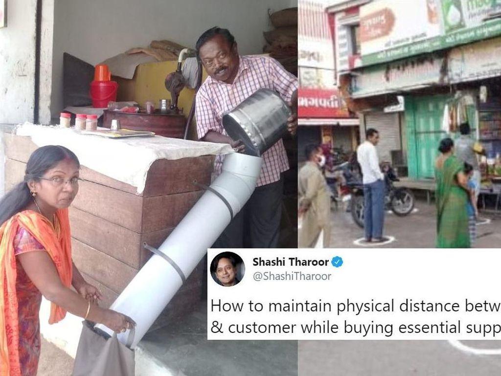 Belanja Makanan Aman ala Netizen India yang Terapkan Social Distancing