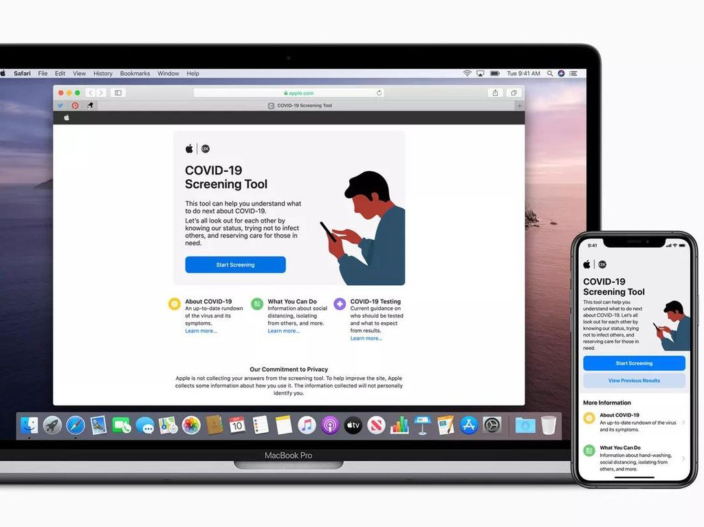 Apple Luncurkan Aplikasi Screening Virus Corona