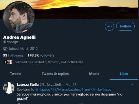 Postingan yang di-like oleh Agnelli.
