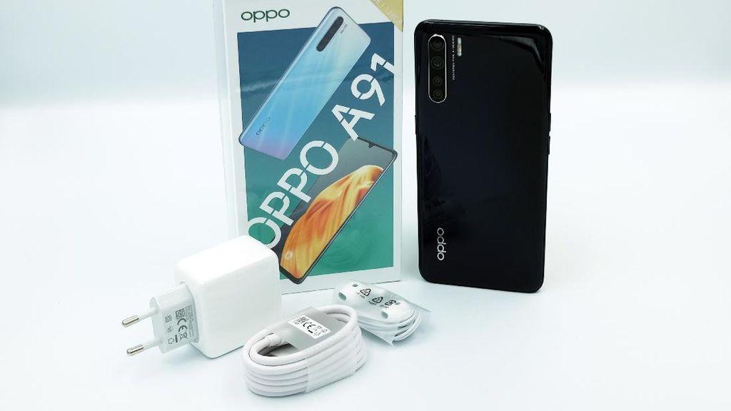 Unboxing Oppo A91, Ponsel 4 Kamera Harga Rp 3 Jutaan